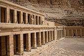 stock photo of hatshepsut  - The temple of Hatshepsut near Luxor in Egypt - JPG