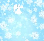 picture of angel-trumpet  - Christmas grunge background with angel - JPG