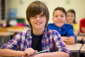 stock photo of schoolboys  - education - JPG