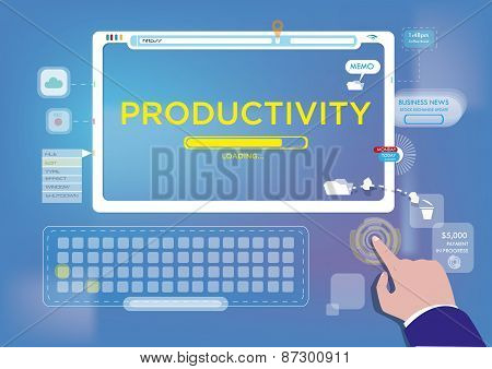 Hands On Productivity with Technology concept