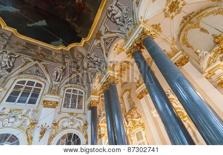 Interior Of State Hermitage, St.petersburg