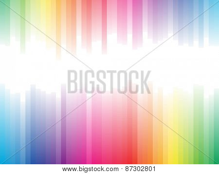 Spectrum stripes horizontal background with white copy space.