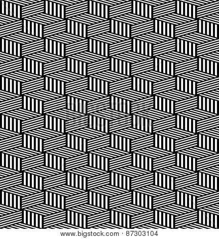 Seamless geometric texture. Op art pattern. Vector art.