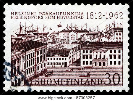 Vintage  Postage Stamp. Helsinki.