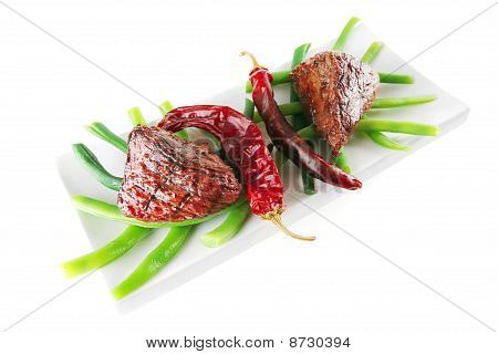 Juice Roast Fillet Mignon With Peppers