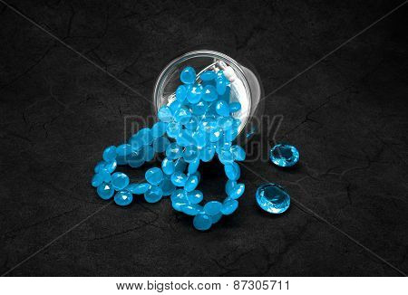 Blue Beads And Topazes