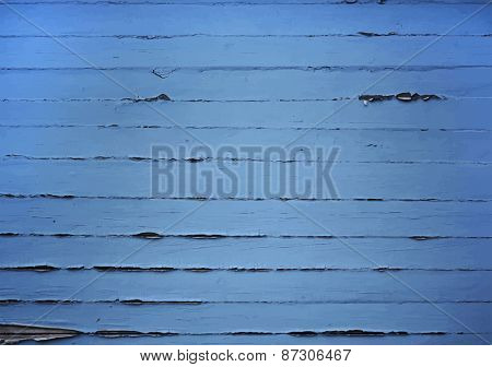 blue painted wooden background, vector