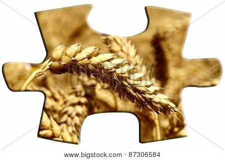 Puzzle with grain