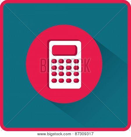 Flat Vector Calculator Icon
