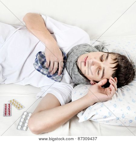 Sick Teenager With Flu