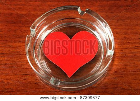 Heart Shape In Ashtray