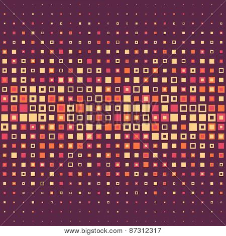 Seamless Square Pattern. Vector Background