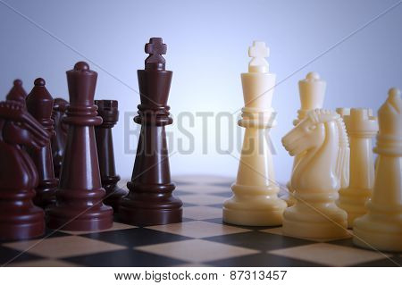 Beginning chessmen combat
