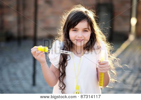 Charming Little Girl Smiling, Outdoor