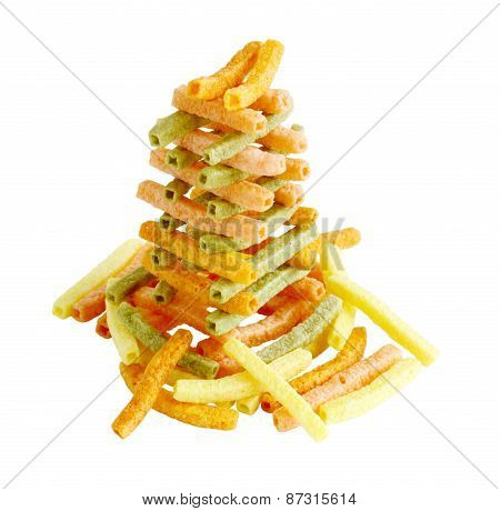 Veggie Straw Tower