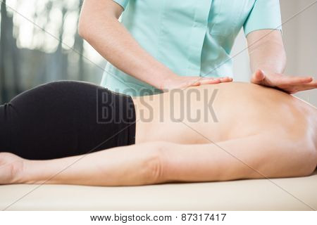 Physiotherapist Doing Medical Massage