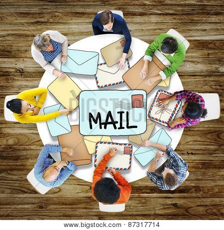 Air Mail Email Post Information Correspondence People Concept