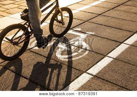 Bike path.