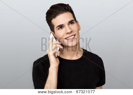 Man speaking on a cell phone