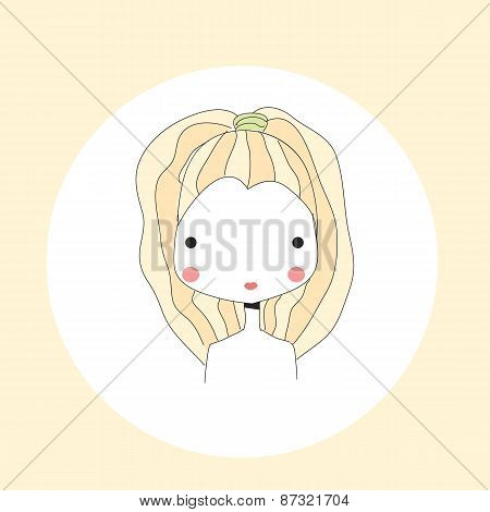 Horoscope Leo Sign, Girl Head