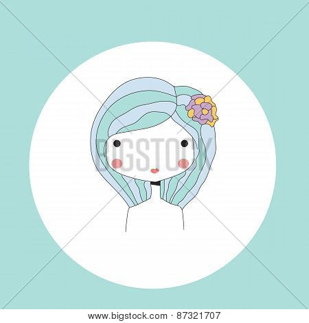 Horoscope Virgo Sign, Girl Head