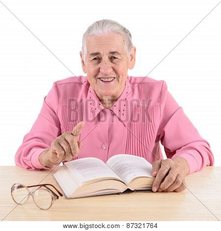 Old Woman With Book