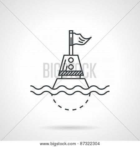 Nautical buoy black line vector icon