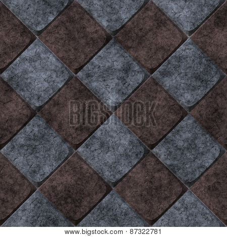 Old Tiles Seamless Generated Texture