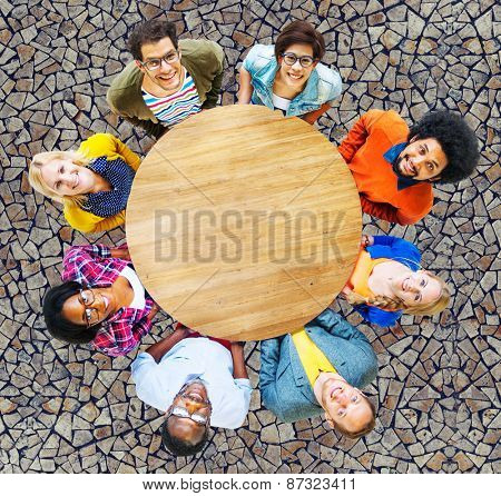 People Diversity Group Togetherness Support Cheerful Concept