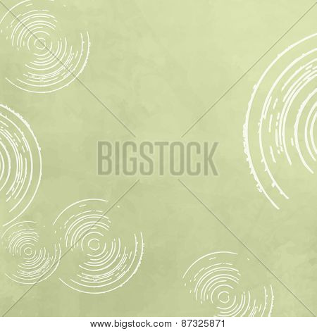 Abstract spring background - green circle pattern