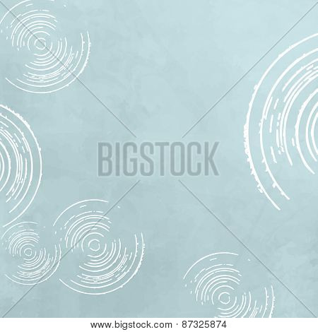 Retro background - abstract soft blue circle pattern