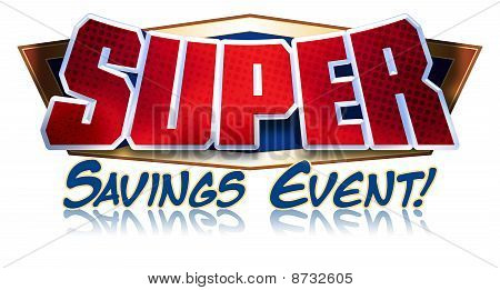 Super Savings Event Headline