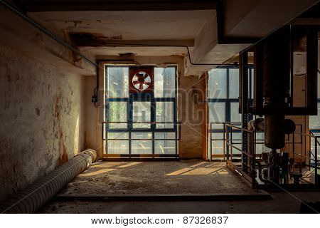 Large glas window