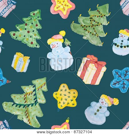 Seamless pattern for Christmas