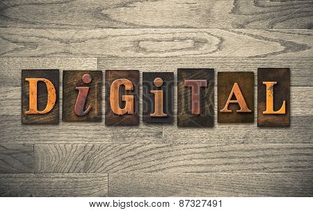 Digital Wooden Letterpress Theme