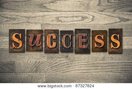Success Wooden Letterpress Theme