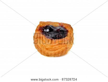 Mini Blueberry Danish On White Background
