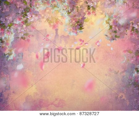 Spring Cherry Blossom Painting