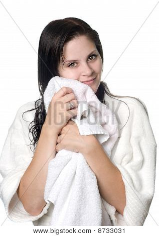 Young Woman After Shower