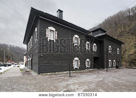 Historic architecture of Siberia. Cultural and ethnographic center My Russia.