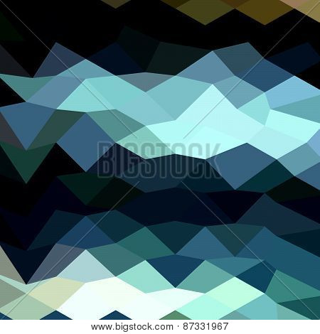 Aquamarine Surf Abstract Low Polygon Background