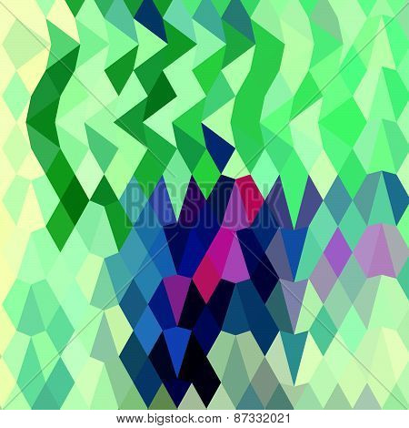 Myrtle Green Abstract Low Polygon Background