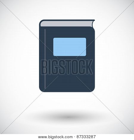 Book. Single flat icon.