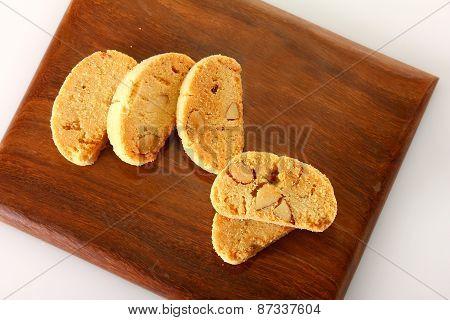 Cookies Set On Wooden Block