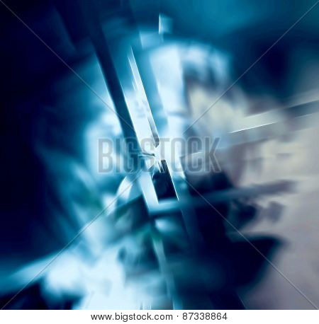 illustration of abstract with blue tonalities