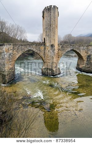 Medieval Bridge Of Frias In Burgos