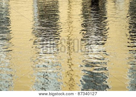 Abstract Reflection In Water With Ripples