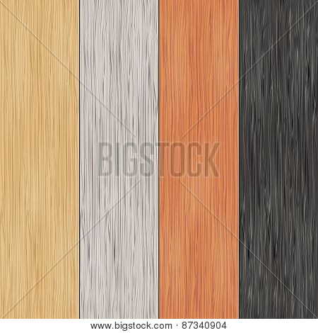 Wood texture on planks. Vertical seamless patterns