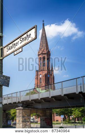 Blur View Of Protestant Church Emmaus From Skalitzer Straße - Berlin