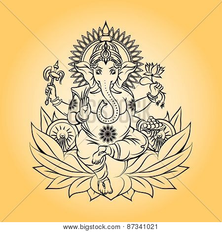 Lord ganesha indian god with elephant head